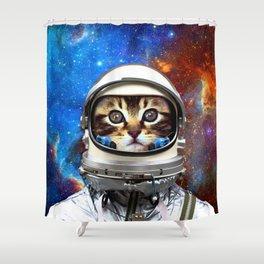 Astronaut Cat #2 Shower Curtain