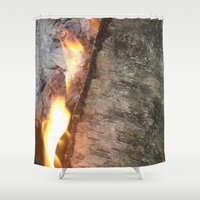 swedish Shower Curtains featuring Swedish fire by ilsephilips