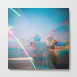 """Rainbow Sisters on the Shoreline"" Holga photograph Metal Print"