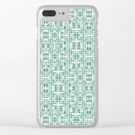 Emerald art deco doodle Clear iPhone Case