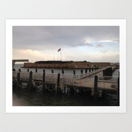 Fort Sumter From the Ferry Art Print