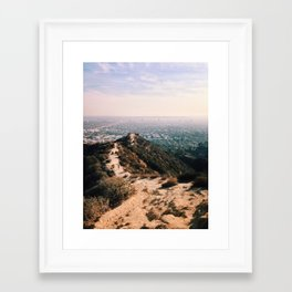 Runyon Canyon and Hollywood. Framed Art Print