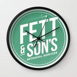 Fett & Son's Retrieval Service Wall Clock