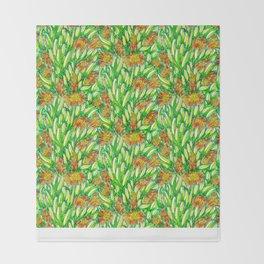 Ice Plants Throw Blanket