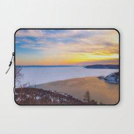 Lake Baikal and Angara River Laptop Sleeve