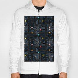 Pacman Retro Arcade Gaming Pattern Hoody