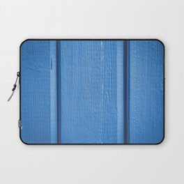 Timber wood blue plank Laptop Sleeve