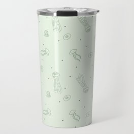 Jellyfish in Green Travel Mug