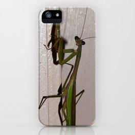 Mantis pose iPhone Case