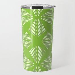 Geometric Dots Pattern - Light Green Travel Mug