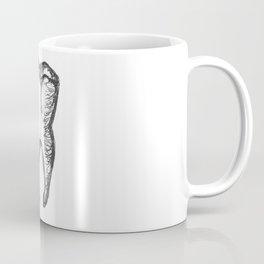 Anatomical Tooth Ink Sketch Coffee Mug