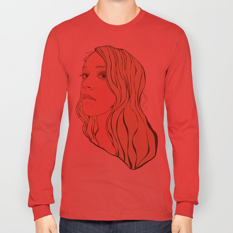5e8d725c Chloe Sevigny Long Sleeve T-shirt by annadiricheva