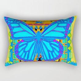Baby Blues Butterfly Gold Art Rectangular Pillow