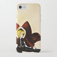 fullmetal alchemist iPhone & iPod Cases featuring Fullmetal Alchemist - Edward Elric by VoicesRantOn