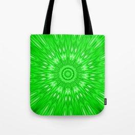 Green Mandala Explosion Tote Bag