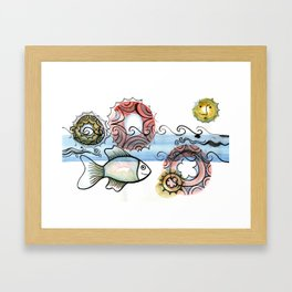 Life on the Earth - The Ocean Framed Art Print