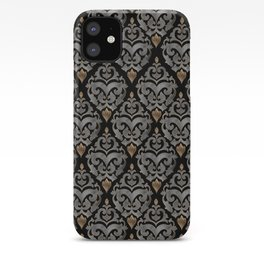Persian Oriental Pattern - Watercolor black and gold iPhone Case
