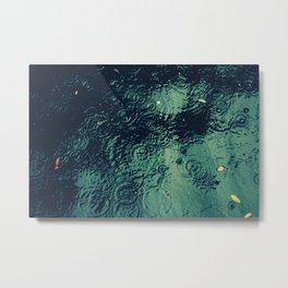 Drops, in the Water Metal Print