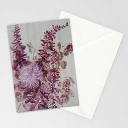 October Flowers Stationery Cards