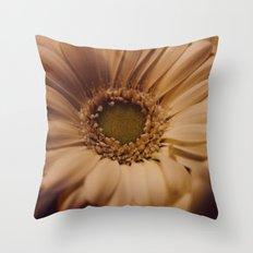 Antique Daisy Throw Pillow