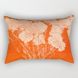 BOTANICAL STILL LIFE - ORANGE ABSTRACT Rectangular Pillow