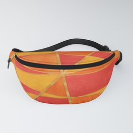 Abstract Watercolor Skewed Color Blocks - Red, Yellow, Orange Fanny Pack