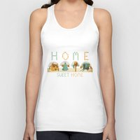 home sweet home Tank Tops featuring home sweet home by Kerry Hyndman