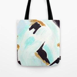Twirl Aqua Tote Bag