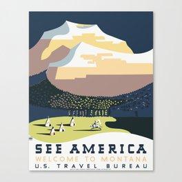 See America - Montana 2 Canvas Print