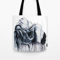 cara delevingne Tote Bags featuring Cara Delevingne by Asquared2Art