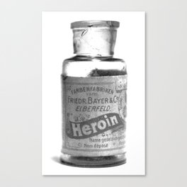 Vintage Heroin Medicine Bottle Canvas Print