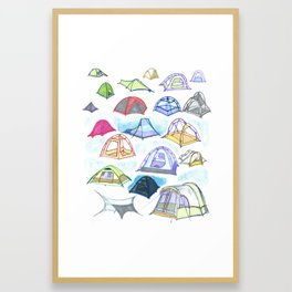 tents from a mountain vagary Framed Art Print