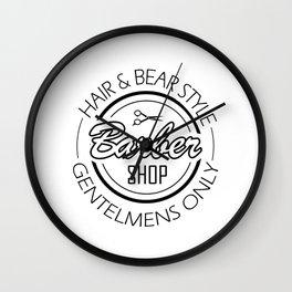 HAIR AND STYLE BARBERSHOP Wall Clock