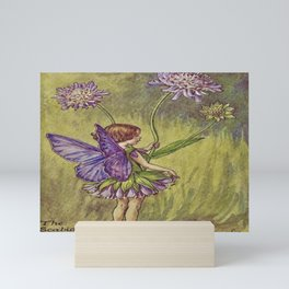 """""""The Scabious Fairy"""" by Cicely Mary Barker (1920) Mini Art Print"""