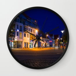 Concept nature : Moon over the city Wall Clock