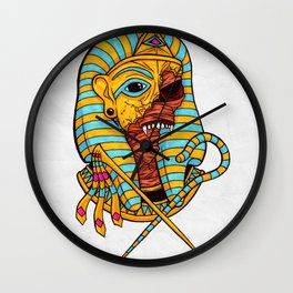 Pharaoh's Curse Wall Clock