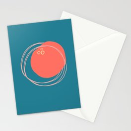 Coral Form Stationery Cards