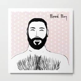 Beard Boy: Emilio Metal Print
