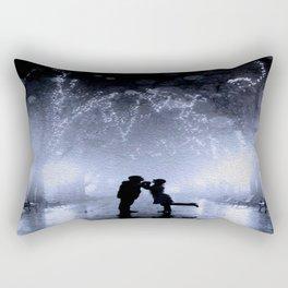 Lovers in the park Rectangular Pillow