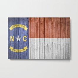 North Carolina Flag Barn Wall Gifts Metal Print