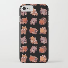 Wild boar piglet iPhone Case