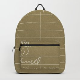 Library Card 797 Negative Brown Backpack