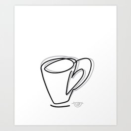 Cuppa Candor [Ivory] Art Print