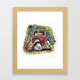 Rusting And Broken Framed Art Print