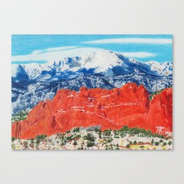 Pikes Peak Behind the Garden of the Gods Canvas Print