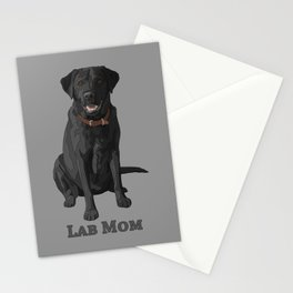 Dog Mom Black Labrador Retriever Stationery Cards