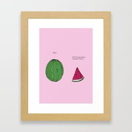 Strawberry Watermelon Cake Framed Art Print