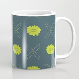 Floral pattern - blue and green Coffee Mug