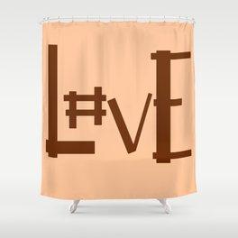 Hashtag L#ve Shower Curtain