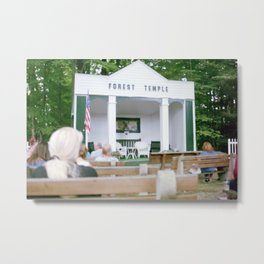 Forest Temple Metal Print